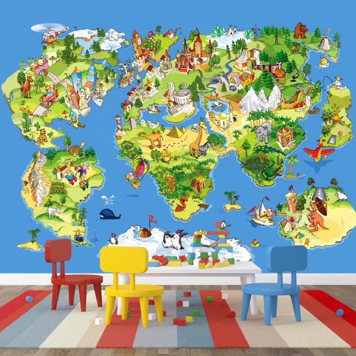 Çocuk Odası Dünya Haritası Poster