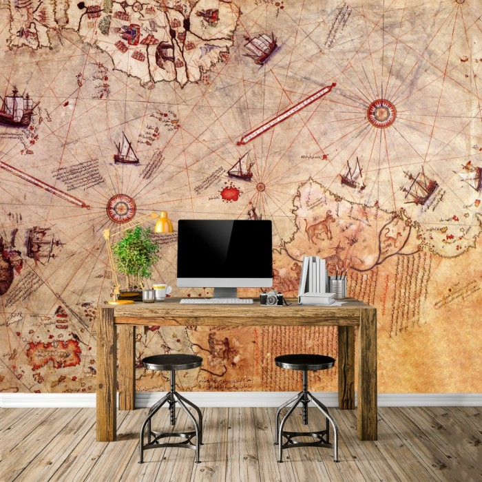 Piri Reis Haritası Duvar Kağıdı