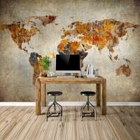 N-942 Eski Boya Dünya Haritası