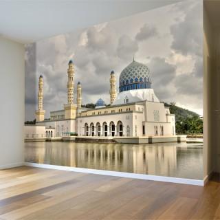 Kota Kinabalu Şehir Camii 3D Duvar Posteri