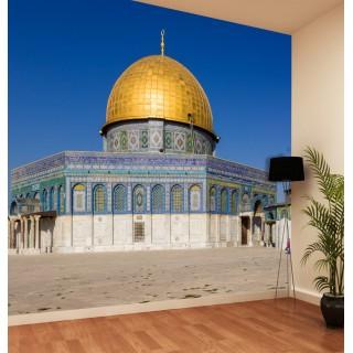 Filistin Kudüs Camii Kubbesi 3D Duvar Kağıdı