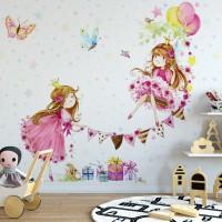 Prensesler Kız Çocuk Odası Duvar Kağıdı