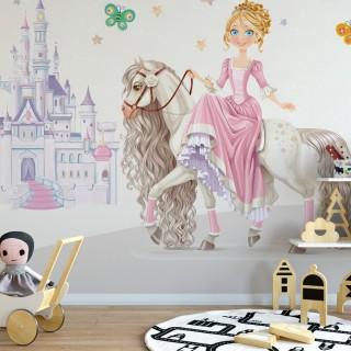 Prenses Çocuk Odası Duvar Kağıdı