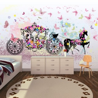 Prenses At Arabası Duvar Kağıdı