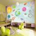 Eğlenceli Uzay Çocuk Odası Duvar Kağıdı