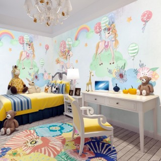 Unicornlar Çocuk Odası Duvar Kağıdı