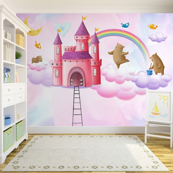 Hayal Şatosu Bebek Odası Duvar Kağıdı