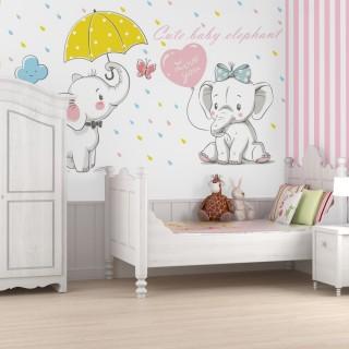 Sevimli Filler Bebek ve Çocuk Odası Duvar Kağıdı