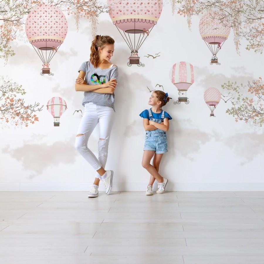 Balonlar Kiz Cocuk Odasi Duvar Kagidi