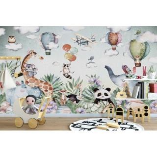 Sevimli Hayvanlar Çocuk Odası Duvar Posteri
