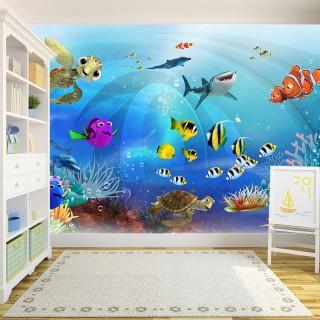 Sualtı Dünyası Çocuk Odası Duvar Kağıdı
