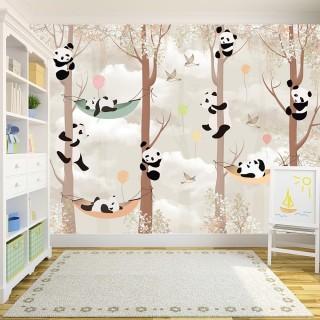 Pandalar Ormanda Duvar Kağıdı