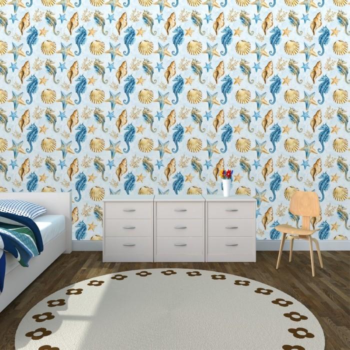 Deniz Atı Çocuk Odası Duvar Kağıdı 02