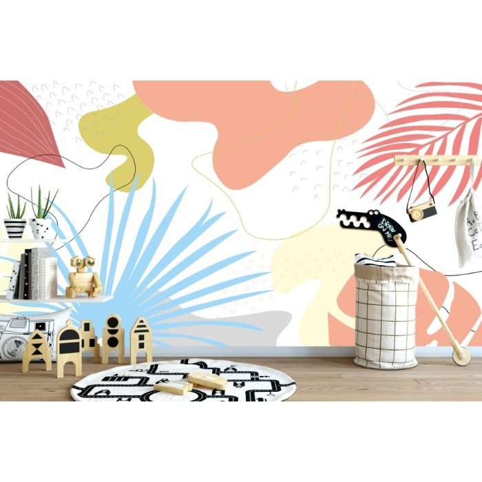 Soyut Desenler Çocuk Odası Duvar Posteri
