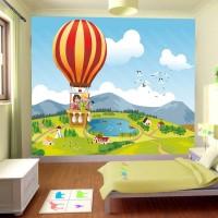 Balonla Seyahat Çocuk Odası Duvar Posteri