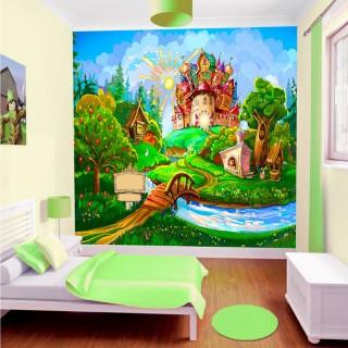 Masal Evi Çocuk Odası Duvar Kağıdı