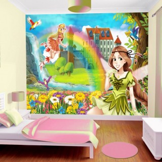 Prensesler Çocuk Odası Duvar Kağıdı 2