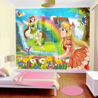 Prensesler Çocuk Odası Duvar Kağıdı 3