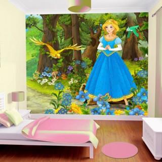 Ormandaki Prenses Çocuk Odası Duvar Kağıdı