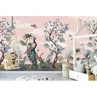 Kuşlar Alemi Çocuk Odası Duvar Posteri