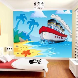 Çocuk Odası Gemili Duvar Posteri