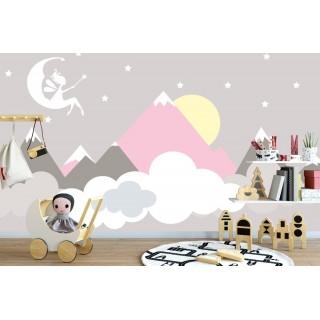 Soft Dağ ve Peri Çocuk Odası Duvar Posteri