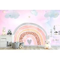 Gökkuşağı Çocuk Odası Duvar Kağıdı