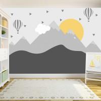 Soft Dağ ve Güneş Çocuk Odası Posteri 2