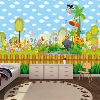 Sevimli Hayvanlar - Çocuk Odası Duvar Kağıdı