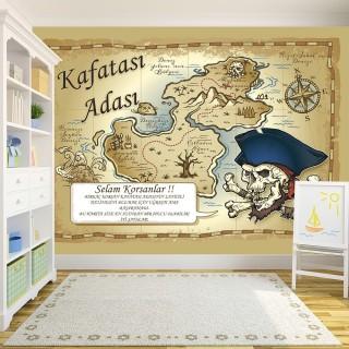 Korsan Haritası Duvar Posteri