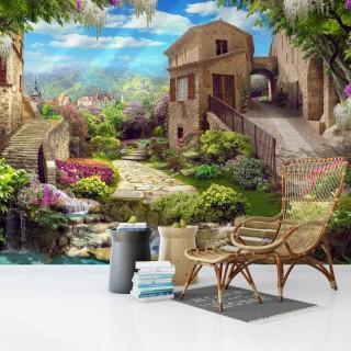 Harika Sokak Manzarası Duvar Kağıdı
