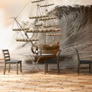 Antik Gemi Duvar Kağıdı