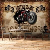 Duvardan Çıkan Motosiklet Duvar Kağıdı