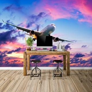 Gökyüzünde Uçak Duvar Posteri