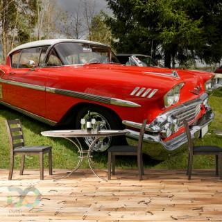Eski Kırmızı Amerikan Araba Duvar Kağıdı