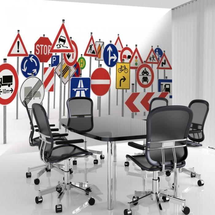 Trafik İşaretleri Duvar Posteri