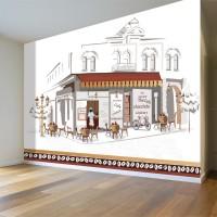 Sokak Cafe Duvar Posteri