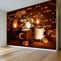 Kahve ve Noel Ağacı Duvar Posteri