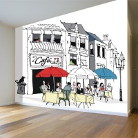 Fransız Cafe Duvar Posteri