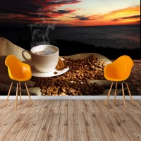 Buharlı Fincan Kahve Duvar Posteri