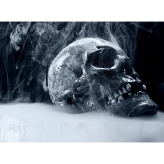 Dumanlı Arka Fon Korkunç Kafatası Duvar Kağıdı