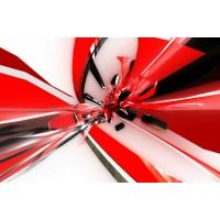 Özel Tasarım Kırmızı Beyaz Duvar Kağıdı