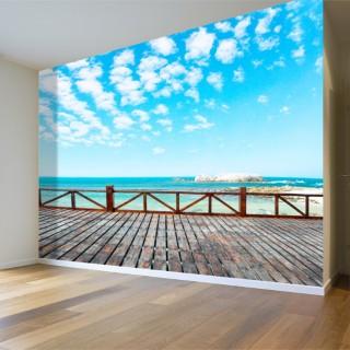 Deniz Balkonu Duvar Posteri