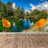 İsviçre Zermatt Manzaralı Göl Duvar Posteri