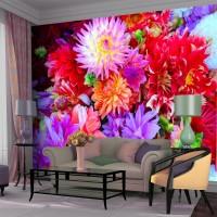 Rengarenk Çiçekler Duvar Posteri