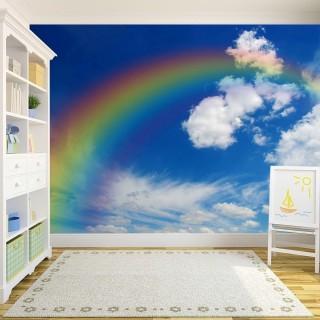 Bulutların Arasında Gökkuşağı Duvar Kağıdı