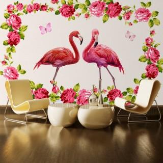 Flamingolar 3D Duvar Posteri