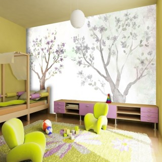 Çizim Ağaçlar - Duvar Posteri