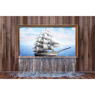 Tablodan Çıkan Gemi Duvar Posteri