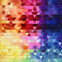 Renkli Geometri Duvar Posteri